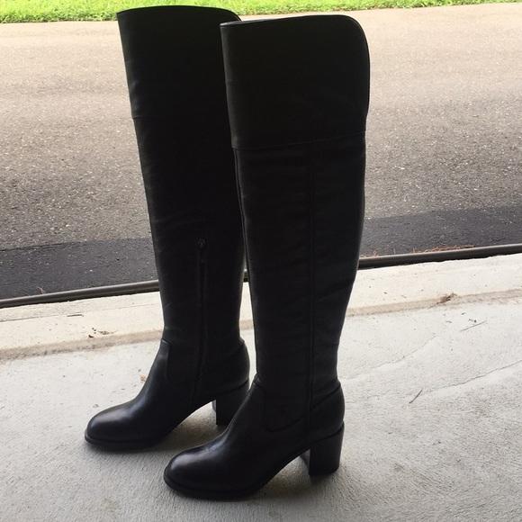 488ef153cb31ba Sam Edelman Joplin Black Leather OTK Boots. M 5b60eede1b16db1d38dd5cd8